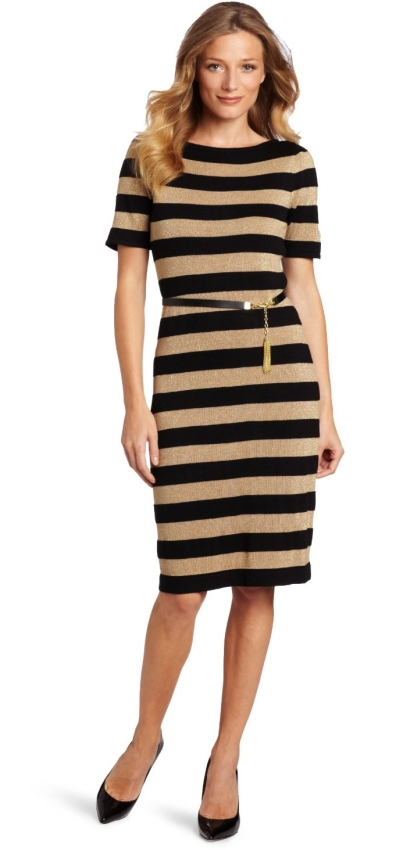 Jones New York Women's Rugby Stripe Sweater Dress