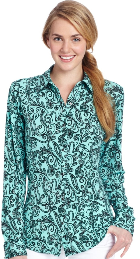 Performance Long Sleeve All Over Print Western Shirt