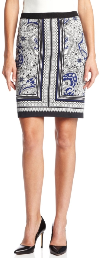 Rafaella Women's Astrology Paisley Skirt