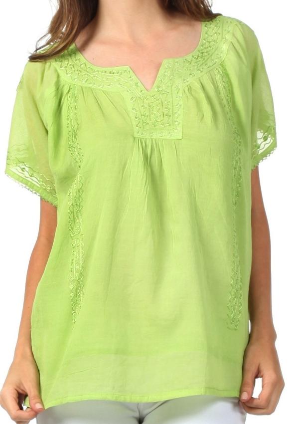 Semi-Sheer Short Sleeve Gauzy Top