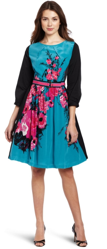 Tracy Reese Women's Contrast Frock Dress