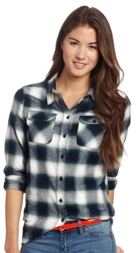U.S. Polo Assn. Womenu0026#39;s Flannel Shirt | Raluca Fashion