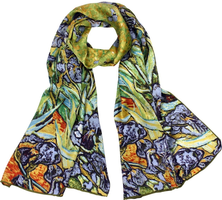 Van Goghs Irises Long Scarf Shawl