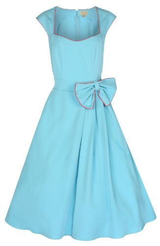 Vintage 1950's Rockabilly Style Bow Swing Party Dress