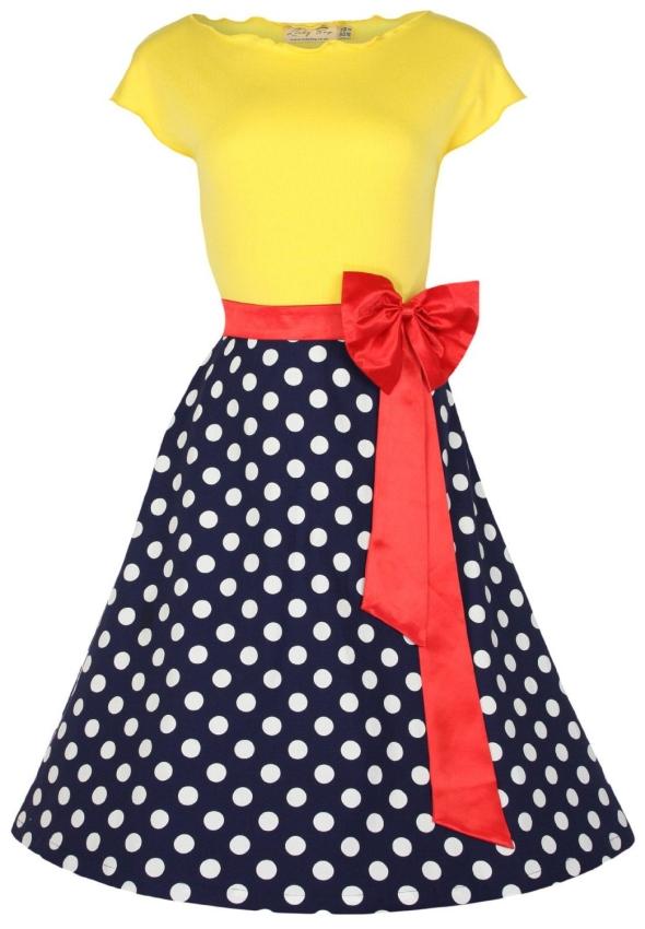 Vintage Parisian Style Pinup Dress