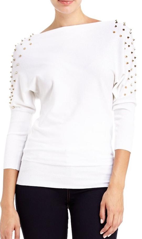 2B Studded Shoulder Sweater