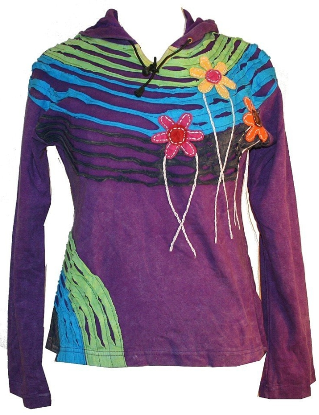 Funky Patch and Slit Bohemian Top