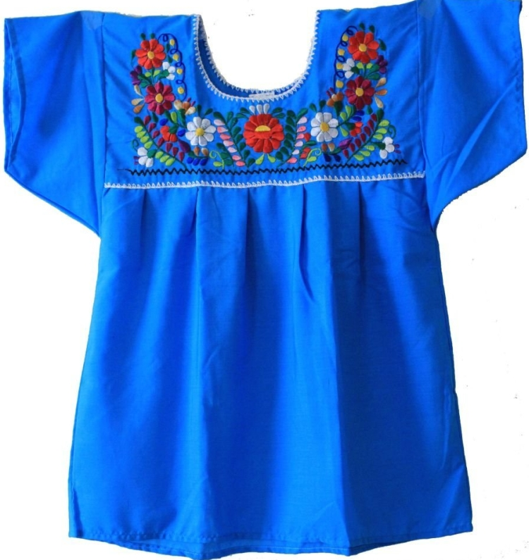 Mexican Peasant Puebla Blouse