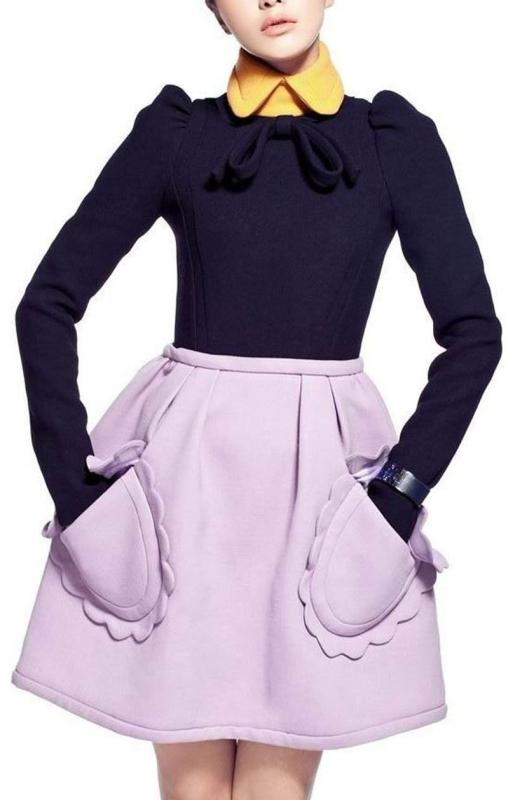 Slim Waist Long-Sleeved Dress Autumn Dress