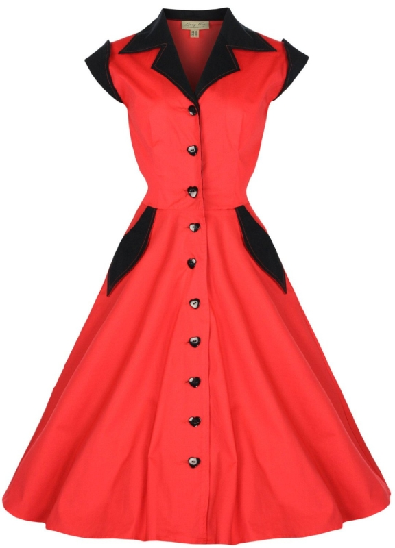 Vintage 1950s Rockabilly Shirt Dress