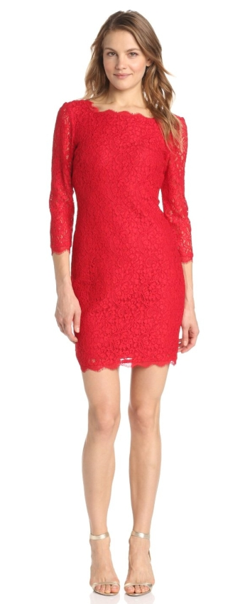 Women's Long Sleeve Lace Dress