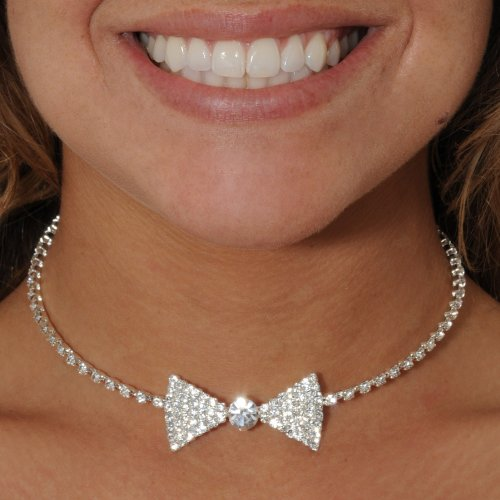 Bow Tie Spring Choker Costume Jewelry Necklace