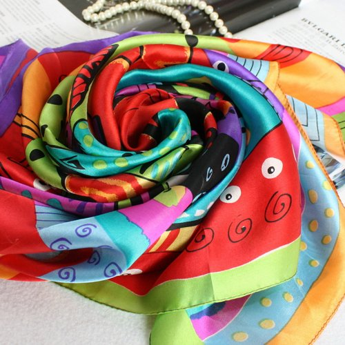 Lady Headband Cat Fish Scarf
