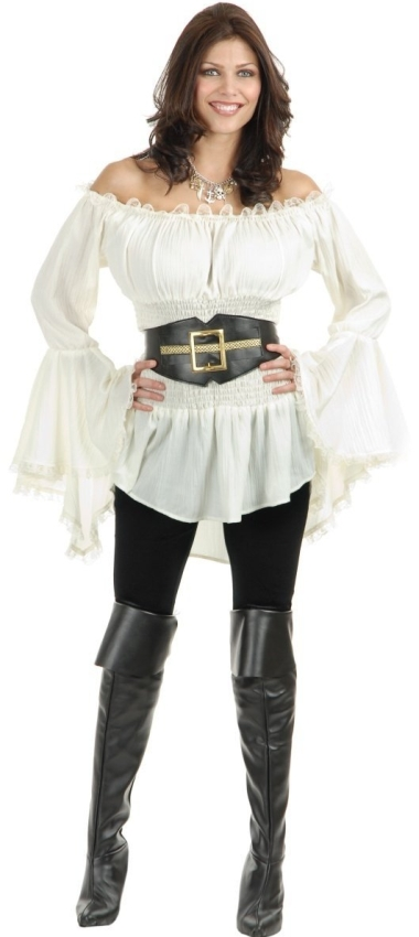 Pirate Lady Vixen Costume Blouse Raluca Fashion