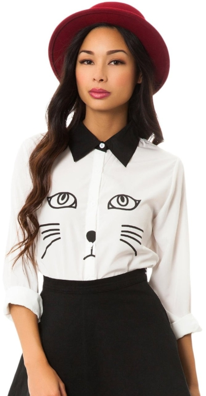 Womens Cat Blouse