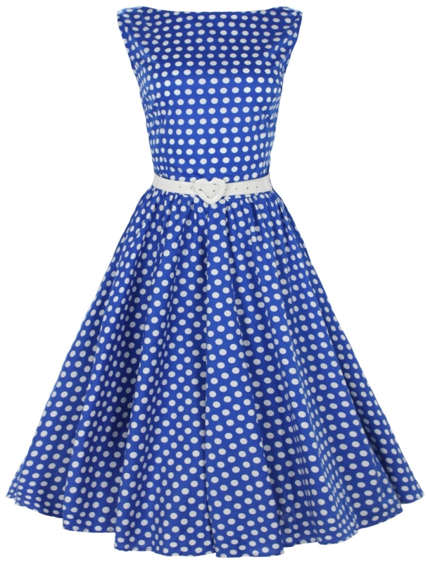 1950s Rockabilly Swing Evening Dress