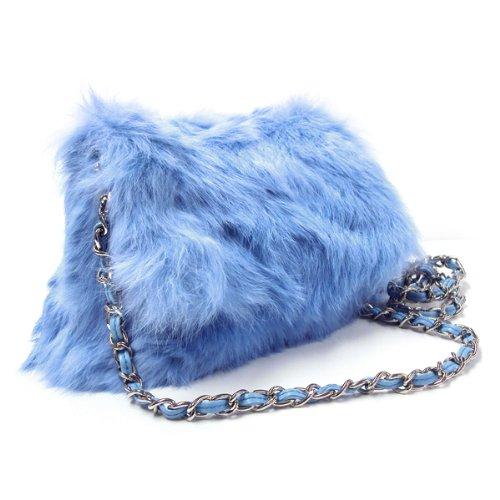Angora Rabbit shoulder bag and Clutch