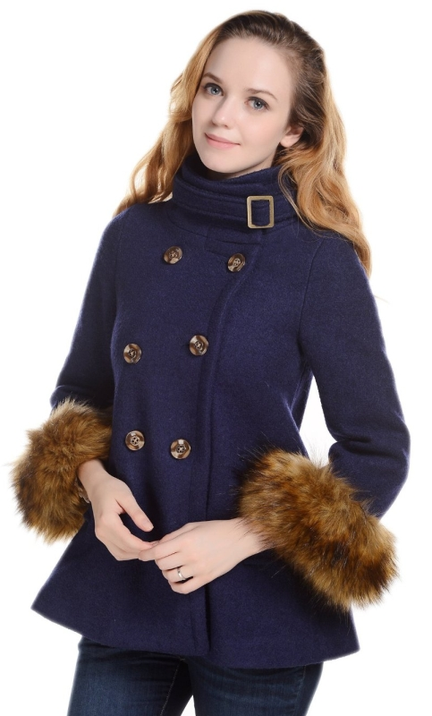 Cashmere Stand Collar Double-Breasted Cape Vintage Outwear