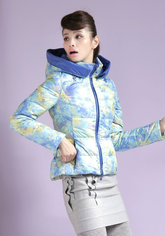 Jacket Stand Collar Short Hooded Down Coat