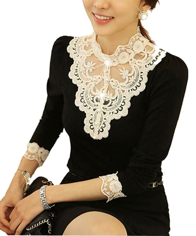 Lace Bottoming Shirt Female Long Sleeve Shirt Blouse
