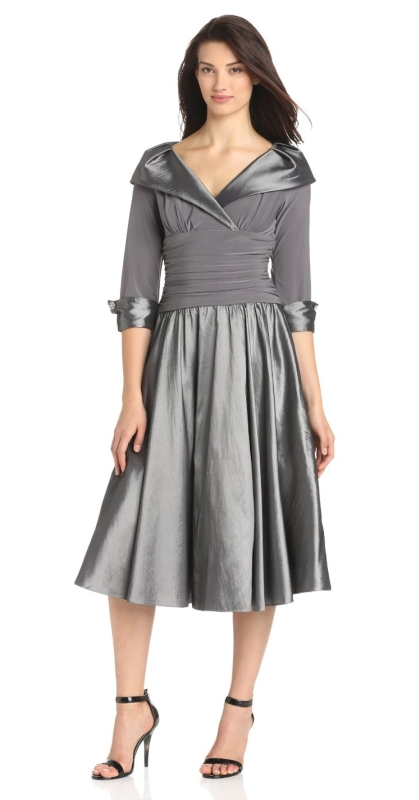Portait Collar Surplus Bodice Dress Raluca Fashion