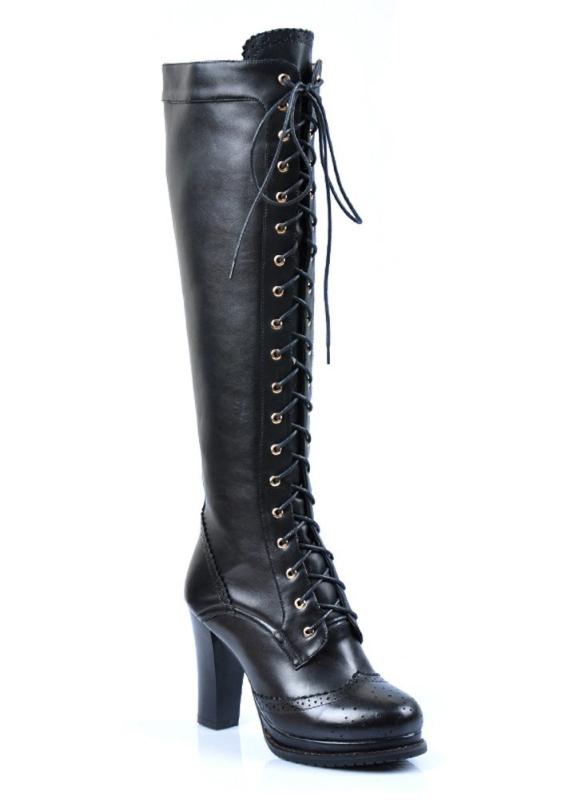 Punk Knee High Dress Boots Raluca Fashion