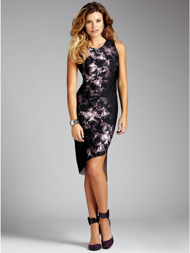 Sleeveless Sublimated Floral Dress