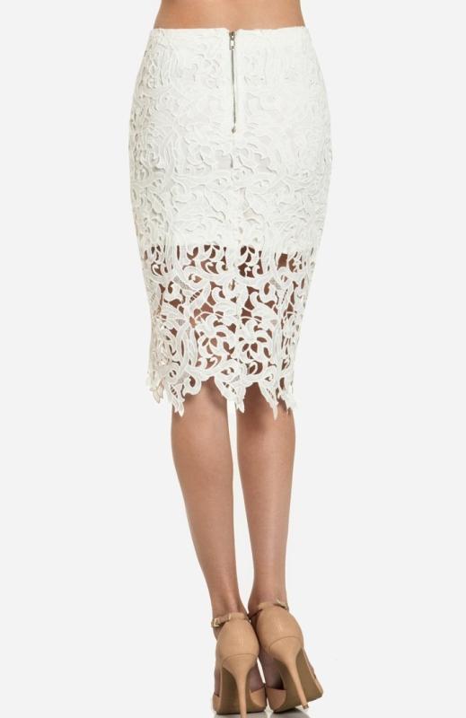 Venetian Lace Skirt Raluca Fashion