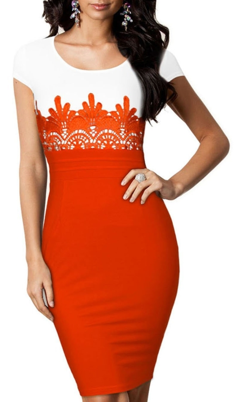 Sleeves Bodycon Pencil Dress