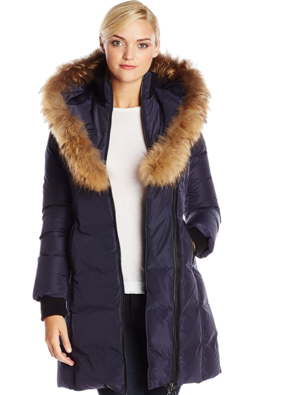 Women's Kay Down Coat with Faux-Fur Trim | Raluca Fashion
