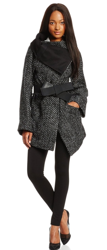 Anglomania Women's Talik Wool-Blend Tweed Belted Coat