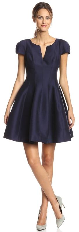 Cap-Sleeve Tulip Hem Cocktail Dress