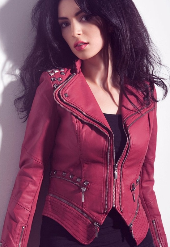 Punk Style PU Faux Leather Slim Fit Moto Jacket