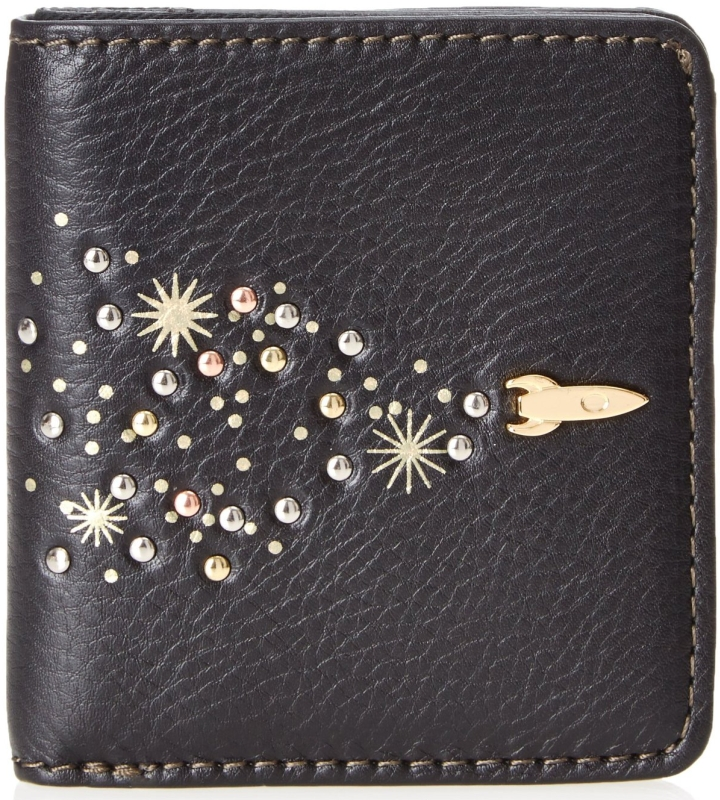 Leather Zip Bifold Wallet