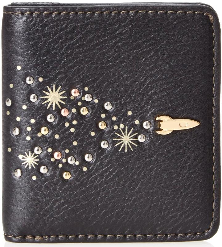 Leather Zip Bifold Wallet