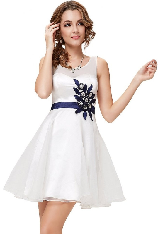 White Homecoming Party Dress