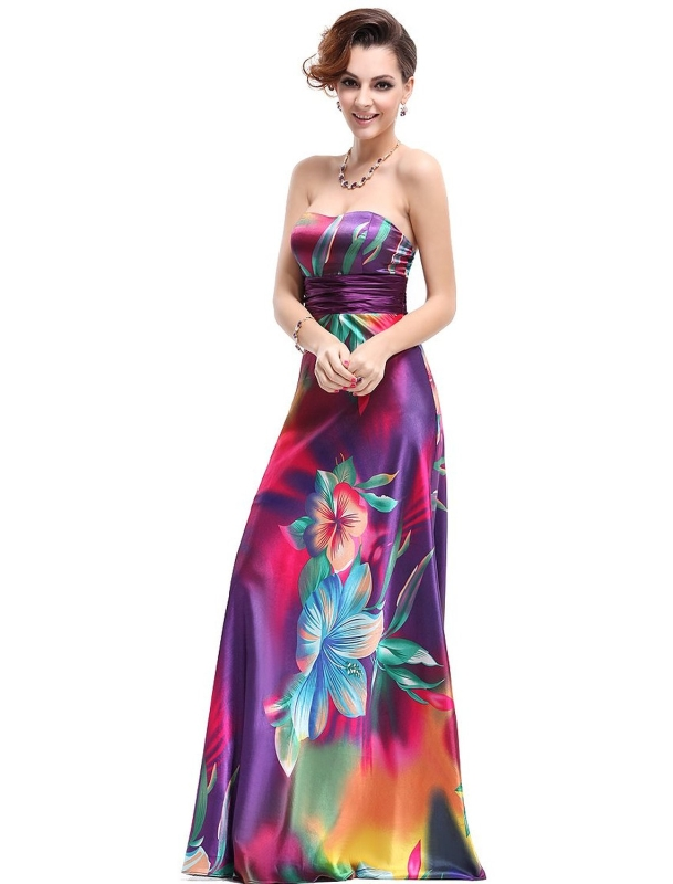 Satin Colorful Dress