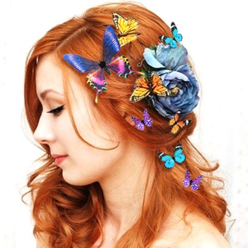 Chic Beautiful Colorful Butterfly Head Decor