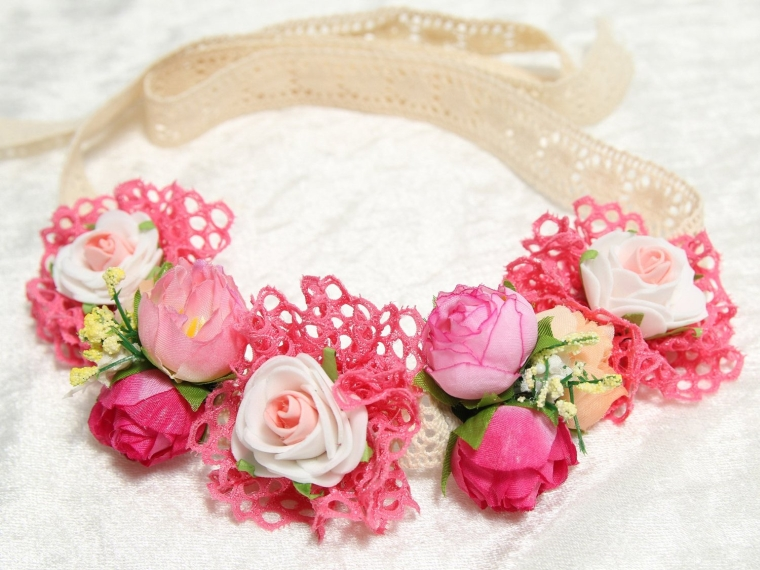 Festival Boho Hippy Hair Head Band Rose CrownBohemian style