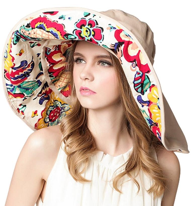 Foldable Roll up Swimming Uv50+ Beach Sun Hat