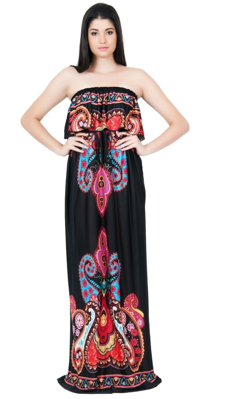 Kashmir Print Maxi Dress