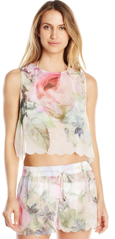 Ted Baker Women's Scalpp Pure Peony Scalloped Cover Up