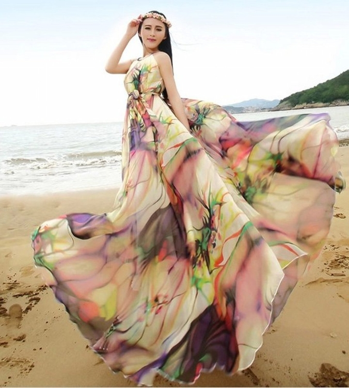 Women's Chiffon Floral Holiday Beach