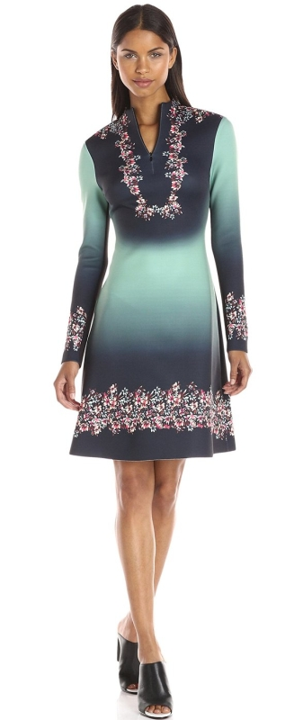 Women S Autumn Ombre Neoprene Dress Raluca Fashion