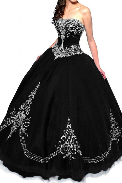 Retro Princess Strapless Tulle Ball Gown Quinceanera Dress