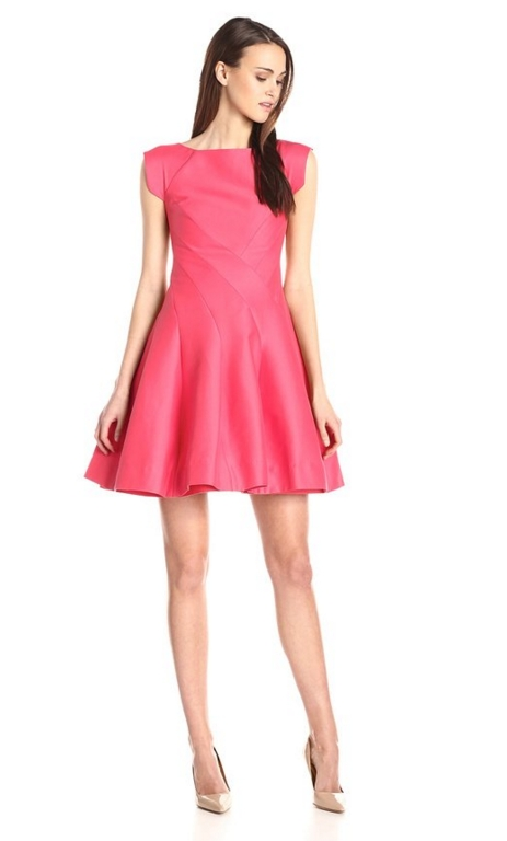 Women's Silk Faille Cap-Sleeve Structured Cocktail Dress