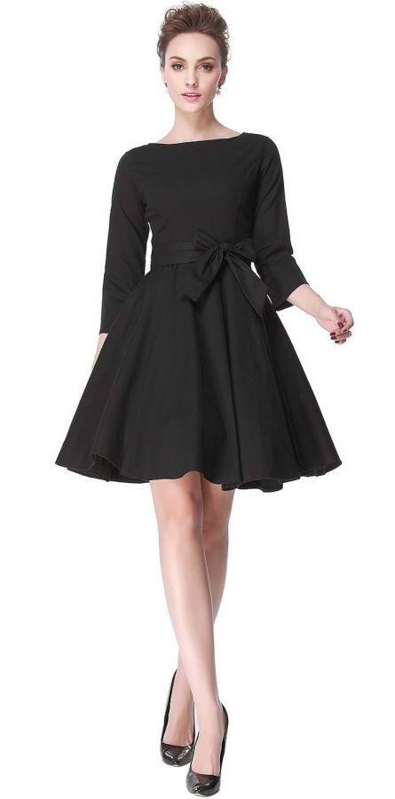 Hepburn 3 4 Sleeve Style Vintage Retro Swing Rockabilly