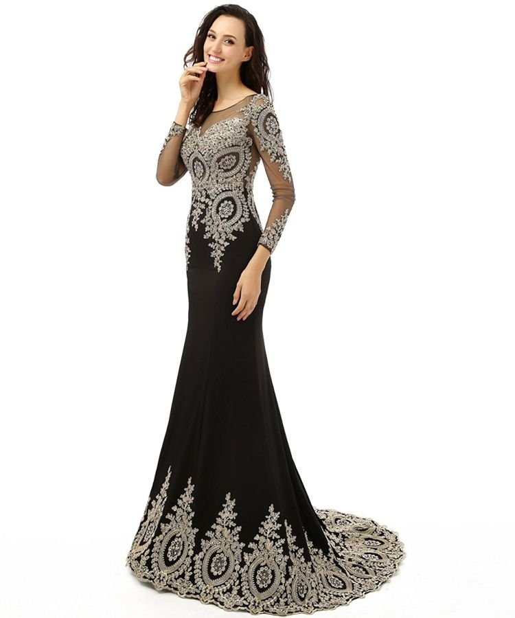 long-sleeve-mermaid-evening-dress