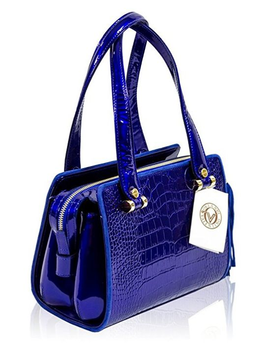 valentino-orlandi-italian-designer-cobalt-blue-croc-leather-boxy-satchel-purse-bag