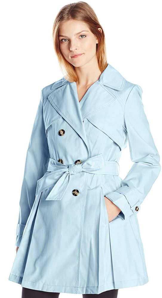 Laundry By Shelli Segal Women's Double Breasted Classic Trench